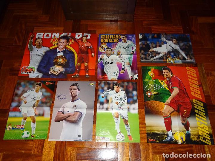 lote posters cristiano ronaldo real madrid manchester united portugal don balon cr7 revista poster