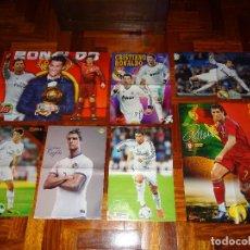 Coleccionismo deportivo: LOTE POSTERS CRISTIANO RONALDO REAL MADRID MANCHESTER UNITED PORTUGAL DON BALON CR7 REVISTA POSTER. Lote 128188603