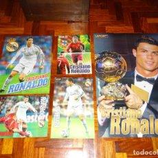 Coleccionismo deportivo: LOTE POSTERS CRISTIANO RONALDO REAL MADRID MANCHESTER UNITED PORTUGAL DON BALON CR7 REVISTA POSTER. Lote 128188611