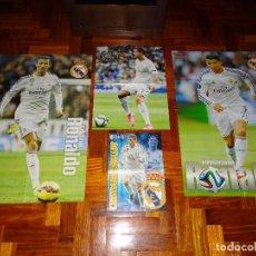 Coleccionismo deportivo: LOTE POSTERS CRISTIANO RONALDO REAL MADRID MANCHESTER UNITED PORTUGAL DON BALON CR7 REVISTA POSTER. Lote 128188623