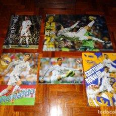 Coleccionismo deportivo: LOTE POSTERS CRISTIANO RONALDO REAL MADRID MANCHESTER UNITED PORTUGAL DON BALON CR7 REVISTA POSTER. Lote 128188627