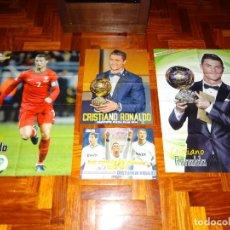 Coleccionismo deportivo: LOTE POSTERS XL CRISTIANO RONALDO REAL MADRID MANCHESTER UNITED PORTUGAL DON BALON REVISTA POSTER. Lote 128188631