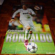 Coleccionismo deportivo: POSTER XXXXL CRISTIANO RONALDO REAL MADRID MANCHESTER UNITED PORTUGAL DON BALON REVISTA CR7. Lote 128188647