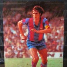 Coleccionismo deportivo: JOHAN JOHAN CRUYFF, F. C. BARCELONA, 1978. POSTER ORIGINAL DE DIN BALÓN. 20 X 28 CMS.. Lote 128667731