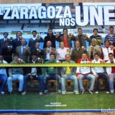 Coleccionismo deportivo: POSTER REAL ZARAGOZA CERVEZA AMBAR LA ZARAGOZANA. Lote 128794275