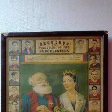 Coleccionismo deportivo: ANTIGUO CARTEL QUINQUENIO F.C. BARCELONA. Lote 128920123