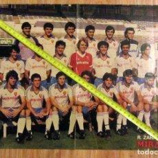 Coleccionismo deportivo: POSTER REAL ZARAGOZA AÑOS 80 LEO BEENHAKKER VALDANO AMARILLA BARBAS. Lote 129281999