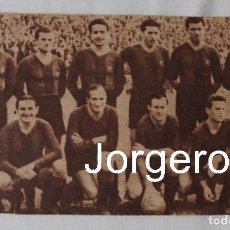 Coleccionismo deportivo: F.C. BARCELONA. ALINEACIÓN PARTIDO DE LIGA 1944-1945 EN EL MOLINÓN CONTRA S. GIJÓN. RECORTE. Lote 129451275