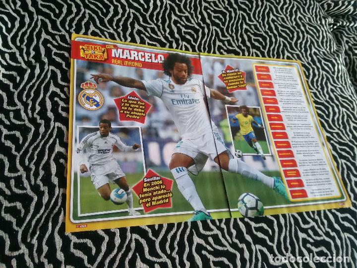 PÓSTER 1 PÁGINA REVISTA JUGÓN + REPORTAJE DATOS: TIKI TAKA CON MARCELO (REAL MADRID) (Coleccionismo Deportivo - Carteles de Fútbol)