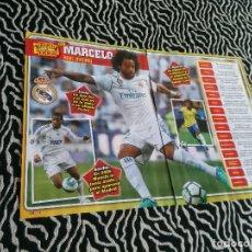 Coleccionismo deportivo: PÓSTER 1 PÁGINA REVISTA JUGÓN + REPORTAJE DATOS: TIKI TAKA CON MARCELO (REAL MADRID). Lote 129597879