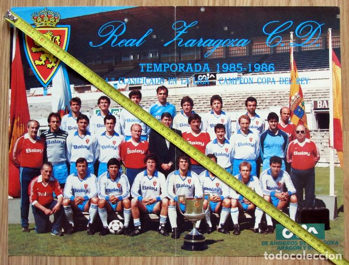 POSTER REVISTA REAL ZARAGOZA CAMPEON COPA DEL REY 1986 (Coleccionismo Deportivo - Carteles de Fútbol)