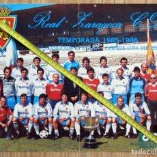 Coleccionismo deportivo: POSTER REVISTA REAL ZARAGOZA CAMPEON COPA DEL REY 1986. Lote 129665879