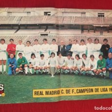 Coleccionismo deportivo: CARTEL POSTER AS COLOR FUTBOL REAL MADRID CAMPEON LIGA 1971 1972. Lote 130196263