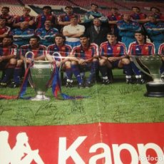 Coleccionismo deportivo: POSTER DEL F.C.BARCELONA DE LA TEMPORADA 92-93. Lote 130471138