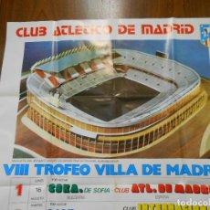 Coleccionismo deportivo: VIII TROFEO VILLA DE MADRID AÑO 1980 SUPER TAMAÑO 98X 68 CMS.. Lote 131488090
