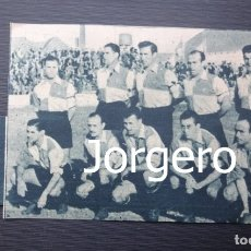 Coleccionismo deportivo: C.E. SABADELL. ALINEACIÓN PARTIDO DE LIGA 1944-1945 EN LA CREU ALTA CONTRA AT. AVIACIÓN. RECORTE. Lote 131539642