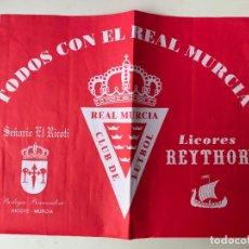 Coleccionismo deportivo: PEQUEÑO CARTEL DEL REAL MURCIA - 30 X 38 CM - TODOS CON EL REAL MURCIA. Lote 131567438