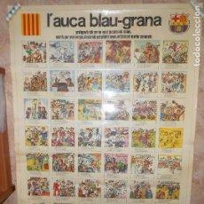 Coleccionismo deportivo: F.C. BARCELONA - CARTEL DEL AUCA BLAU-GRANA - AÑO 1975 - 80X110 -. Lote 133452194