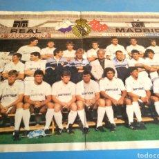Coleccionismo deportivo: PÓSTER REAL MADRID ,ORIGINAL AÑOS 80. Lote 133804114