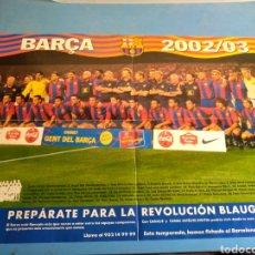 Coleccionismo deportivo: PÓSTER FC BARCELONA ,DIARIO SPORT AÑO 2002/03. Lote 133805349