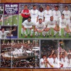 Coleccionismo deportivo: REAL MADRID - EL POSTER DE LA SÉPTIMA - CAMPEÓN DE EUROPA 1998 -TAMAÑO 94X65. Lote 87216960