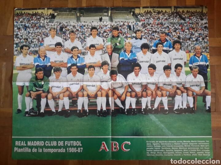 POSTER DEL REAL MADRID TEMPORADA 1986-1987 (Coleccionismo Deportivo - Carteles de Fútbol)