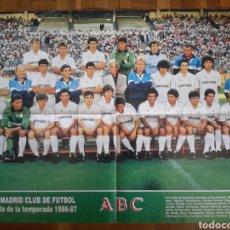 Coleccionismo deportivo: POSTER DEL REAL MADRID TEMPORADA 1986-1987. Lote 134550643