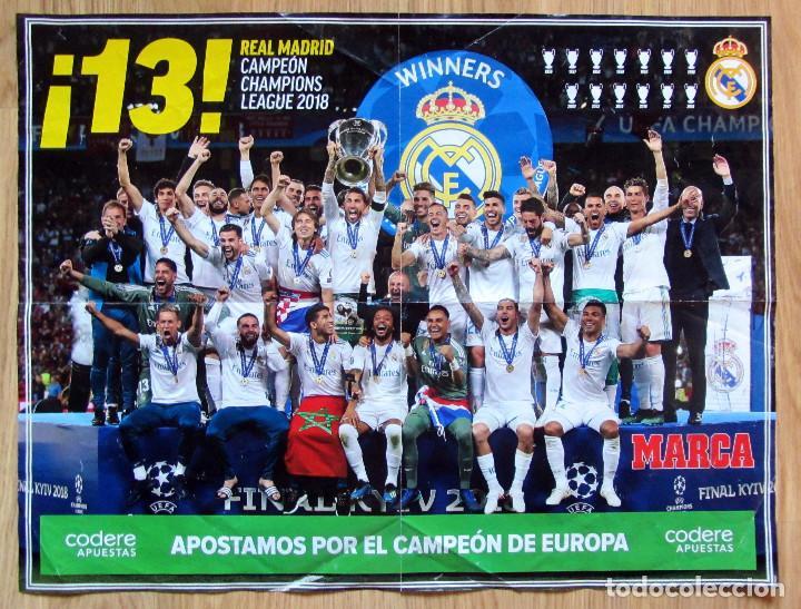 POSTER MARCA REAL MADRID CAMPEON COPA EUROPA 2018 UEFA CHAMPIONS LEAGUE  KIEV LA 13 (Coleccionismo b4747f6afb0b5