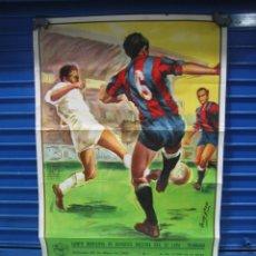 Coleccionismo deportivo: CARTEL DE FÚTBOL. EXTREMADURA-POZOBLANCO 1982. MEDIDAS 95X55 CM. Lote 134824694