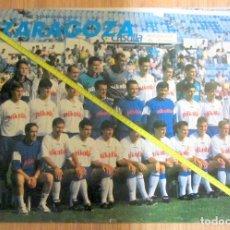 Coleccionismo deportivo: POSTER REAL ZARAGOZA PLANTILLA AÑOS 90. Lote 135273102