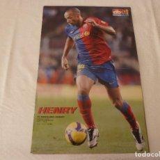 Coleccionismo deportivo: (ABJ)POSTER(46X30)HENRY-(F.C.BARCELONA)-BARÇA.. Lote 135754838