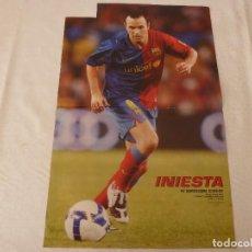 Coleccionismo deportivo: (ABJ)POSTER(46X30)INIESTA 2008-09-(F.C.BARCELONA)-BARÇA.. Lote 135756330