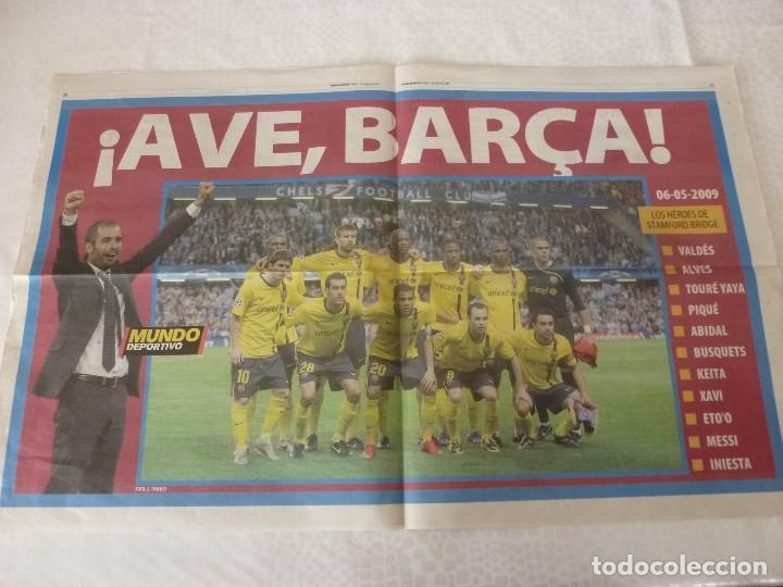 (ABJ)POSTER(57X36)F.C.BARCELONA TEMPORADA 2008-09-LOS HEROES DE STAMFORD BRIDGE (Coleccionismo Deportivo - Carteles de Fútbol)