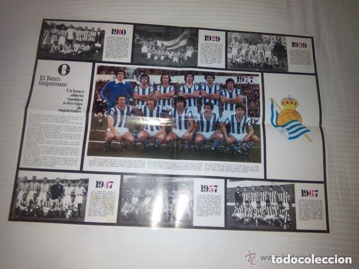 ANTIGUO POSTER REAL SOCIEDAD DE FUTBOL / 1910 -1929 -1939 -1947 -1957 -1967 (Coleccionismo Deportivo - Carteles de Fútbol)