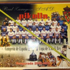 Coleccionismo deportivo: POSTER REAL ZARAGOZA CAMPEON COPA DEL REY 2000-01. Lote 136158010