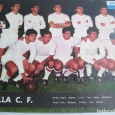 Coleccionismo deportivo: POSTER DE TELE ! EXPRES SEVILLA C.F. !!! MEDIDAS 33 X 24 CM MUY BUENAS CONDICIONES!!!. Lote 136263206