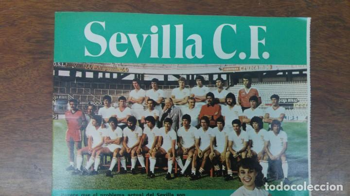 POSTER SEVILLA C.F AÑO 1982 MEDIDAS 42'50 X 60 CM DESNUDO PINTINHO LOPEZ MONTERO BUYO PACO SAN JOSE (Coleccionismo Deportivo - Carteles de Fútbol)