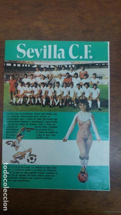 Coleccionismo deportivo: POSTER SEVILLA C.F AÑO 1982 MEDIDAS 4250 X 60 CM DESNUDO PINTINHO LOPEZ MONTERO BUYO PACO SAN JOSE - Foto 2 - 137234466