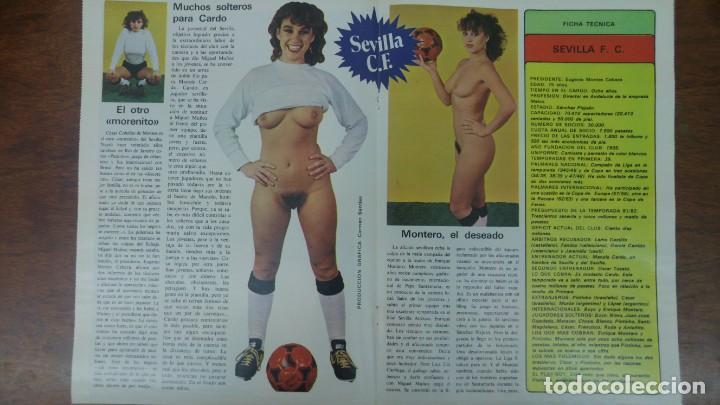 Coleccionismo deportivo: POSTER SEVILLA C.F AÑO 1982 MEDIDAS 4250 X 60 CM DESNUDO PINTINHO LOPEZ MONTERO BUYO PACO SAN JOSE - Foto 4 - 137234466