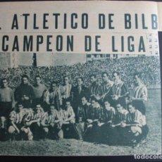 Coleccionismo deportivo: ATH. BILBAO. CAMPEÓN DE LIGA 1942-1943. MINI-PÓSTER. Lote 137259382