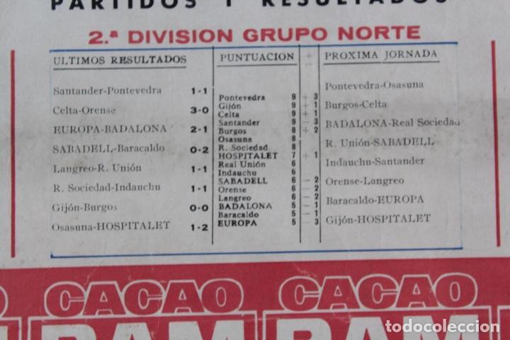 Coleccionismo deportivo: C-759 .C.F.BARCELONA. CARTEL 8ª JORNADA DE LIGA 1 NOVIEMBRE DE 1964 .BARCELONA - ESPAÑOL. - Foto 4 - 137624374