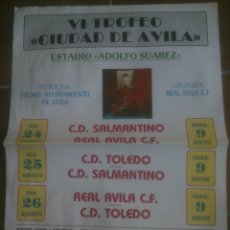 Coleccionismo deportivo: CARTEL OFICIAL TROFEO CIUDAD DE AVILA. Lote 138077214
