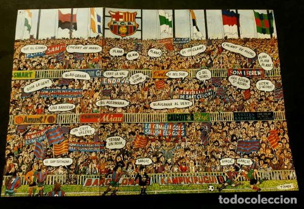 Coleccionismo deportivo: BARÇA - BON NADAL 1975 - FELICITACION NAVIDAD - TRIPTICO CON CANT DEL BARÇA 31X21 CM -POSTER futbol - Foto 2 - 138630510
