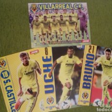 Coleccionismo deportivo: 4 PÓSTERS DEL VILLARREAL C.F. DE LA REVISTA JUGÓN DE PANINI. Lote 138805757
