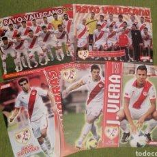 Coleccionismo deportivo: 5 PÓSTERS DEL RAYO VALLECANO DE LA REVISTA JUGÓN DE PANINI. Lote 138810657