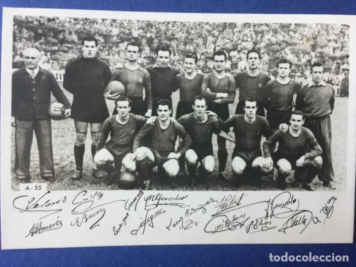 POSTER DEL FC BARCELONA 1947-48 CON FIRMAS IMPRESAS (Coleccionismo Deportivo - Carteles de Fútbol)