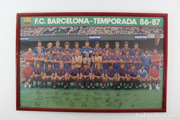C-773 F.C.B. TEMPORADA 86-87 (Coleccionismo Deportivo - Carteles de Fútbol)