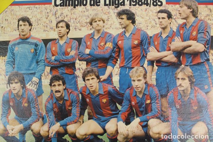Coleccionismo deportivo: C-774 . CARTEL DEL F.C. BARCELONA. SOBRE MADERA POR LAS DOS CARAS . CAMPIO DE LLIGA 1984/85. - Foto 2 - 139265714