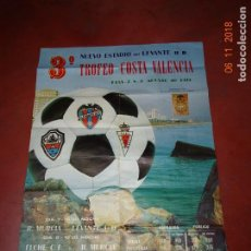 Coleccionismo deportivo: CERVEZA STARK TURIA CARTEL DE FUTBOL TROFEO COSTA VALENCIA EN NUEVO ESTADIO DEL LEVANTE DEL AÑO 1974. Lote 139280590