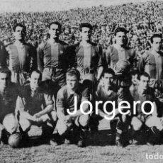 Coleccionismo deportivo: F.C. BARCELONA. ALINEACIÓN PARTIDO DE LIGA 1952-1953 EN LES CORTS CONTRA R. MADRID. RECORTE. Lote 139768834